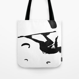 Freestyle Kiteboarder Turning The Whole World Upside Down Tote Bag