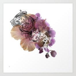 L'Orchidée Art Print