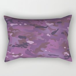Camouflage: Violet Rectangular Pillow