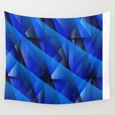 Blue Waves Wall Tapestry