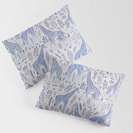 Blue Giraffe Pattern Pillow Sham