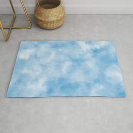 Powder Blue Feathers Rug
