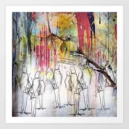 The Manifestation of Meaningless Conversation in a Group Setting Art Print