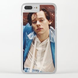 Harry Styles in Blue Suit Clear iPhone Case