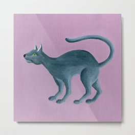 Misha - Russian Blue Metal Print