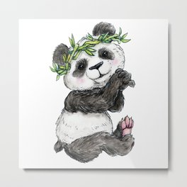 Bamboo Child Metal Print