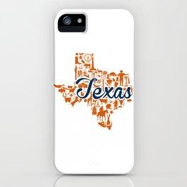 UT Austin Texas Landmark State - Blue and Orange UT Theme iPhone Case