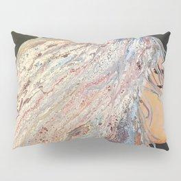 Woman face color pink Kaleidoscope 3 good vibes  Pillow Sham
