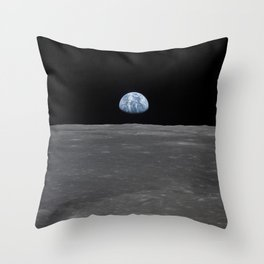 see the marble from the moon | space 005 Throw Pillow