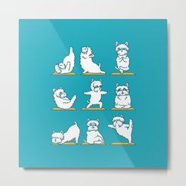West Highland Terrier Yoga Metal Print