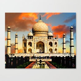 Taj Mahal Dawn Canvas Print
