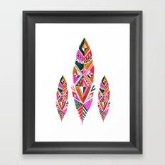 Brooklyn feathers Framed Art Print