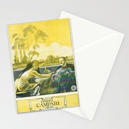 Vintage 1924 Campari Advertisement by Marcello Dudovich Stationery Cards