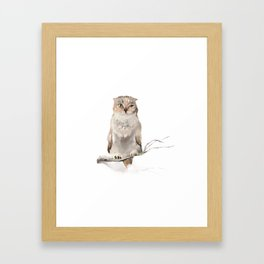 Who-who? Framed Art Print