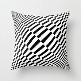 Tribute to Vasarely 4 -visual illusion Throw Pillow
