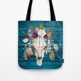 Rustic Glam Boho Chic in Teal Tote Bag