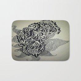Ink Doodle Graphic Design Bath Mat