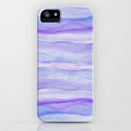 Ultra Violet Watercolor Layers iPhone Case