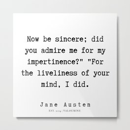 92     | Jane Austen Quotes | 190722 Metal Print