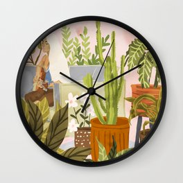 Playing For My Plants Wall Clock