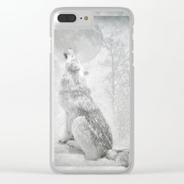 Wolf howl at the Moon Clear iPhone Case