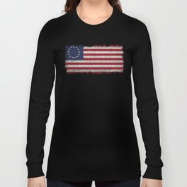 Betsy Ros Flag Long Sleeve T-shirt