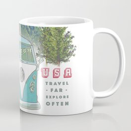 """Not all who wander, are lost"" poster print Coffee Mug"