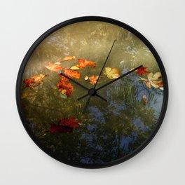 Floating fallen leaves Wall Clock