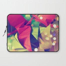 Senbazuru | pink and green Laptop Sleeve