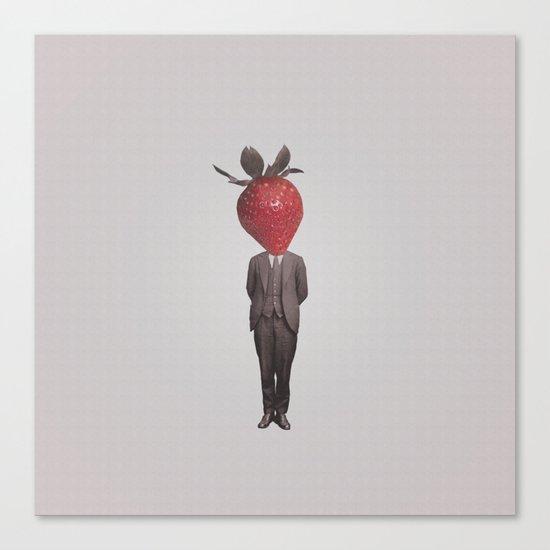 Strawberry Mugshot Canvas Print