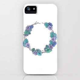 Succulent Wreath iPhone Case