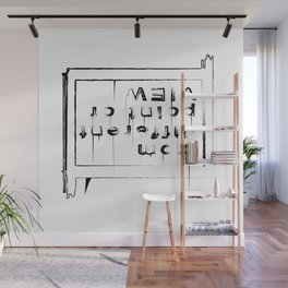 Statement shirt - Different point of view Wall Mural