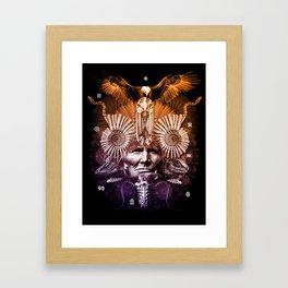 Psychedelic Shaman Framed Art Print