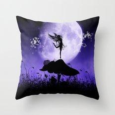 Fairy Silhouette 2 Throw Pillow