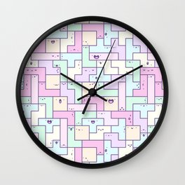 Kawaii Tetris Wall Clock