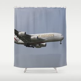 Emirates A380 Airbus Shower Curtain