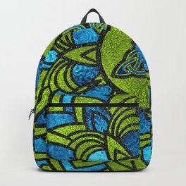 Metallic Foil Celtic Trinity Knot Triquetra Backpack