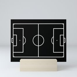 Soccer field / Football field in Black and White Mini Art Print