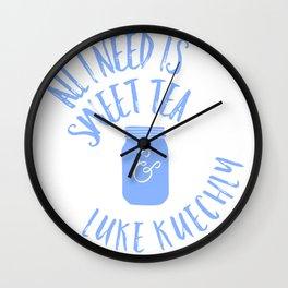 Sweet Tea & Luke Kuechly Wall Clock