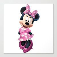 minnie mouse Canvas Prints featuring Minnie Mouse by Fashion Addict
