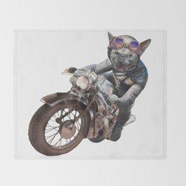 Cat Racer Throw Blanket
