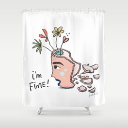 how are you doing? Shower Curtain