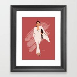 AOC in White Framed Art Print