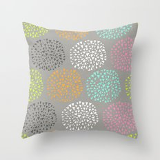 Flowers-triangles Throw Pillow