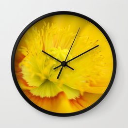 Iceland Poppy Close Perspective Wall Clock