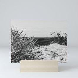 Sand Dune Landscape Denmark Haurvig bw Mini Art Print