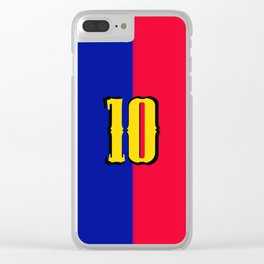 soccer team jersey number ten Clear iPhone Case