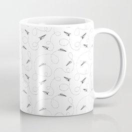 Fly away - Paper Airplanes Pattern Coffee Mug