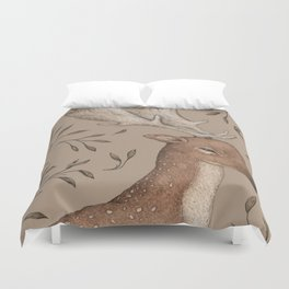 The Fallow Deer and Oats Duvet Cover