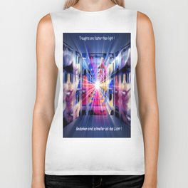 Troughts are faster than light. Biker Tank
